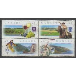 Canada - 1997 - No 1520/1523 - Tourisme