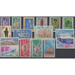 New Caledonia - Complete year - 1972 - Nb 379/385 et PA126/PA134