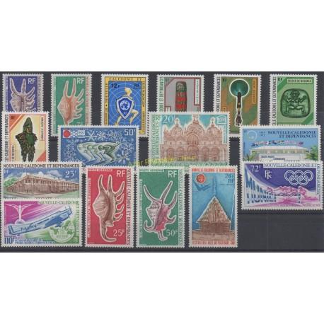 Nouvelle-Calédonie - Année complète - 1972 - No 379/385 et PA126/PA134