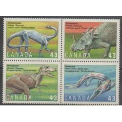 Canada - 1993 - No 1338/1341 - Animaux préhistoriques