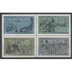 Canada - 1989 - No 1119/1122 - Seconde Guerre Mondiale