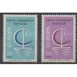 Turquie - 1966 - No 1796/1797 - Europa