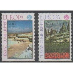 Turquie - 1977 - No 2184/2185 - Sites - Europa