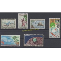 New Caledonia - Complete year - 1962 - Nb 302/306 et PA73