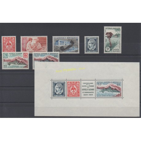 New Caledonia - Complete year - 1960 - Nb 295/301 et BF2