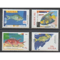 Aruba (Netherlands Antilles) - 2004 - Nb 327/330 - Sea animals