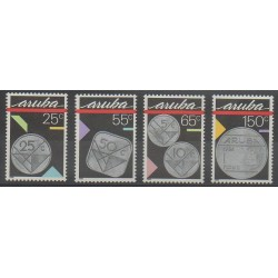 Aruba (Netherlands Antilles) - 1988 - Nb 40/43 - Coins, Banknotes Or Medals