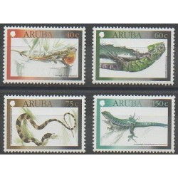 Aruba - 2000 - No 250/253 - Reptiles - Insectes