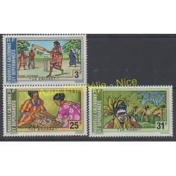 Nouvelle-Calédonie - Poste aérienne - 1975 - No PA162/PA164