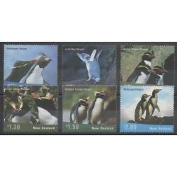 Nouvelle-Zélande - 2001 - No 1877/1882 - Oiseaux