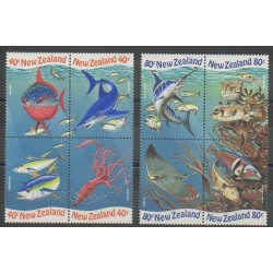 Nouvelle-Zélande - 1998 - No 1650/1657 - Animaux marins