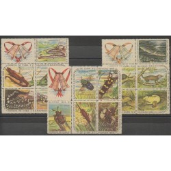 Cuba - 1962 - Nb 642/656 - Reptils - Insects - Mamals