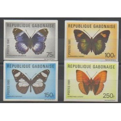 Gabon - 1981 - No 474/477ND - Insectes
