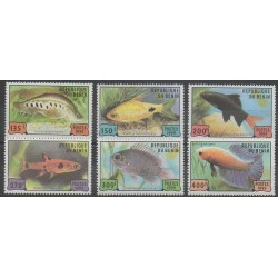 Benin - 1999 - Nb 902/907 - Sea animals