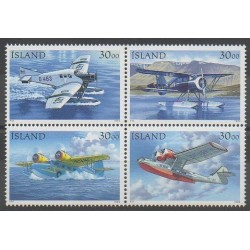 Islande - 1993 - No 741/744 - Service postal - Aviation