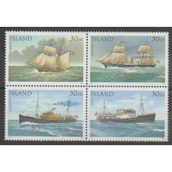 Islande - 1991 - No 706/709 - Service postal - Navigation