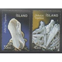Islande - 1998 - No 846/847 - Minéraux - Pierres précieuses