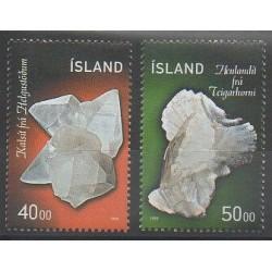 Islande - 1999 - No 870/871 - Minéraux - Pierres précieuses