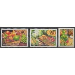 Nouvelle-Zélande - 2002 - No 1934/1936 - Gastronomie - Fruits