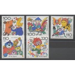 Allemagne - 1998 - No 1822/1826 - Dessins Animés - BD - Enfance