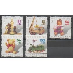 Allemagne - 2002 - No 2088/2092 - Enfance - Échecs