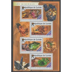Guinea - 2015 - Nb 7726/7729 - Minerals - Gems