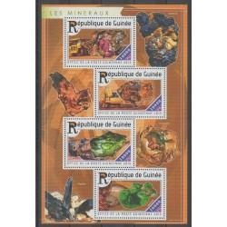 Guinée - 2015 - No 7726/7729 - Minéraux - Pierres précieuses