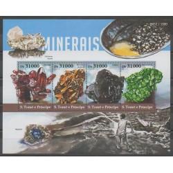 Sao Tomé-et-Principe - 2015 - No 5035/5038 - Minéraux - Pierres précieuses