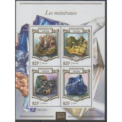 Niger - 2015 - No 2758/2761 - Minéraux - Pierres précieuses