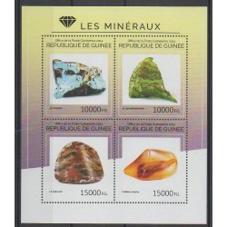 Guinea - 2014 - Nb 7454/7457 - Minerals - Gems