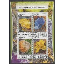 Djibouti - 2016 - No 1027/1030 - Minéraux - Pierres précieuses