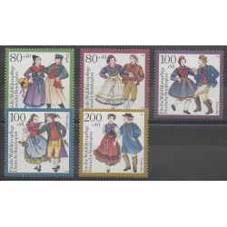 Allemagne - 1993 - No 1528/1532 - Costumes