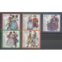 Allemagne - 1994 - No 1589/1593 - Costumes