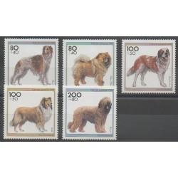 Allemagne - 1996 - No 1668/1672 - Chiens