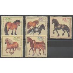 Allemagne - 1997 - No 1752/1756 - Chevaux