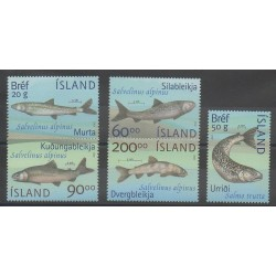 Iceland - 2002 - Nb 940/944 - Sea animals