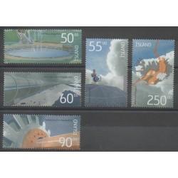 Islande - 2004 - No 983/987 - Sciences et Techniques