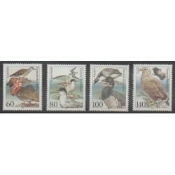Allemagne - 1991 - No 1367/1370 - Oiseaux - Espèces menacées - WWF