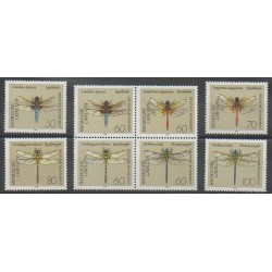 Allemagne - 1991 - No 1373/1380 - Insectes