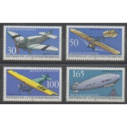 Allemagne - 1991 - No 1354/1357 - Aviation - Ballons - Dirigeables