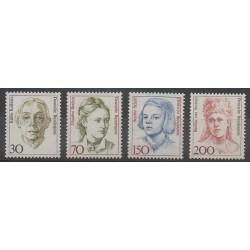 Allemagne - 1991 - No 1320/1321 - 1329/1330 - Célébrités