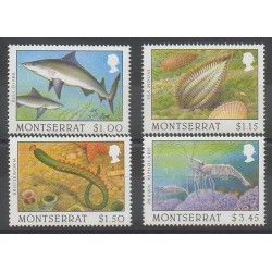 Montserrat - 1996 - Nb 870/873 - Sea animals