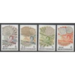 Montserrat - 1993 - No 808/811 - Monnaies, billets ou médailles