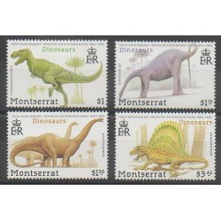 Montserrat - 1992 - Nb 780/783 - Prehistoric animals