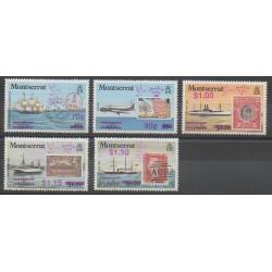 Montserrat - 1990 - No 730/734 - Timbres sur timbres - Philatélie