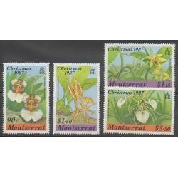 Montserrat - 1987 - Nb 657/660 - Orchids