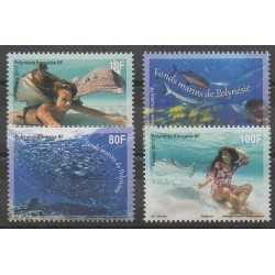 Polynésie - 2017 - No 1151/1154 - Animaux marins