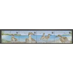 Vanuatu - 2009 - No 1351/1354 - Oiseaux - Espèces menacées - WWF