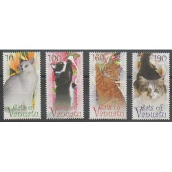 Vanuatu - 2010 - Nb 1366/1369 - Cats