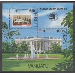 Vanuatu - 1989 - Nb BF14 - Exhibition - Planes